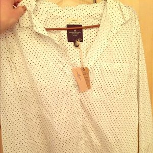 American Eagle Outfitters Tops - American Eagle prep fit button-up blouse